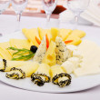 Cheese platter with selection - Stockfoto