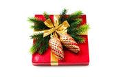 装飾やギフト ボックス クリスマス コンセプト — ストック写真