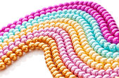 Abstract with colourful pearl necklaces — 图库照片