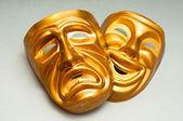 Masques avec le concept de théâtre — Photo