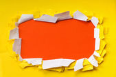 Space for your message on torn paper — Stock Photo