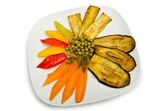 Grilled vegetables served in the plate — Stock Photo