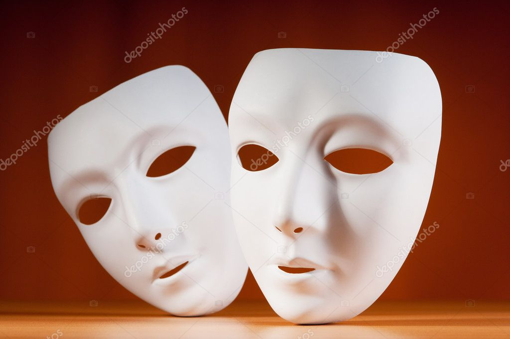 Masks with theatre concept — Stock Photo #6883030