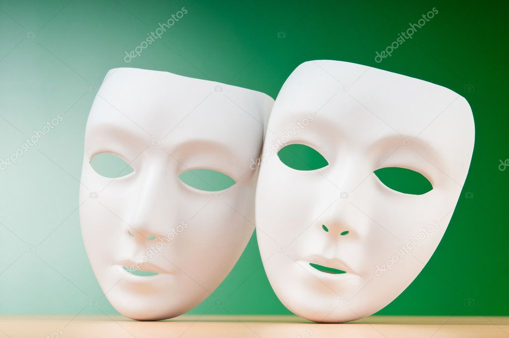 Masks with theatre concept — Stock Photo #6883335