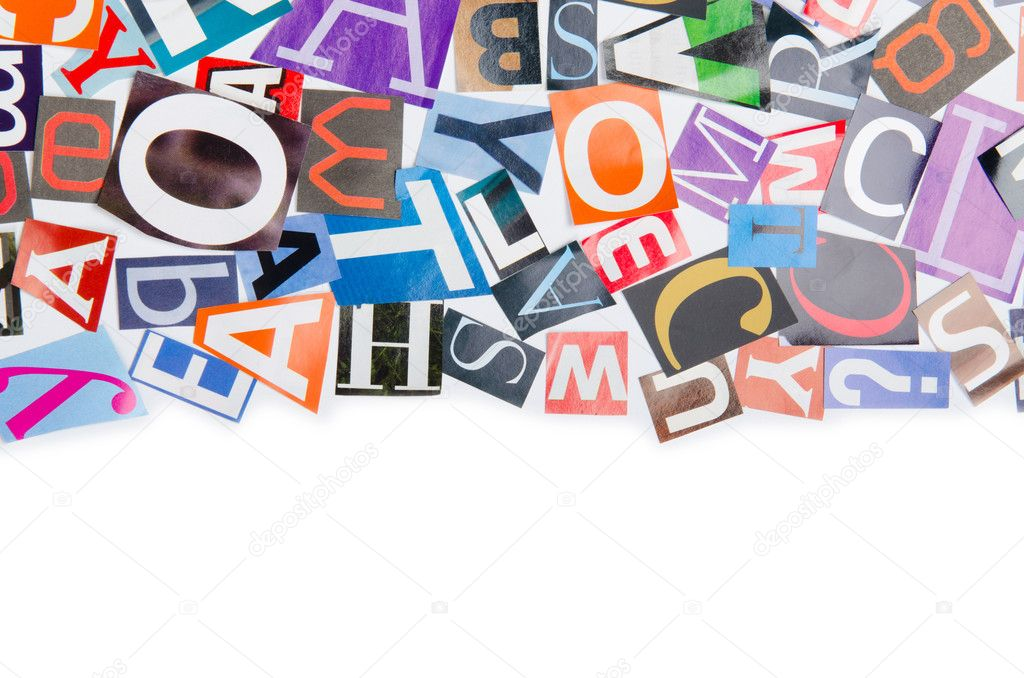 Cut letters from newspapers and magazines — Stock Photo #6885418