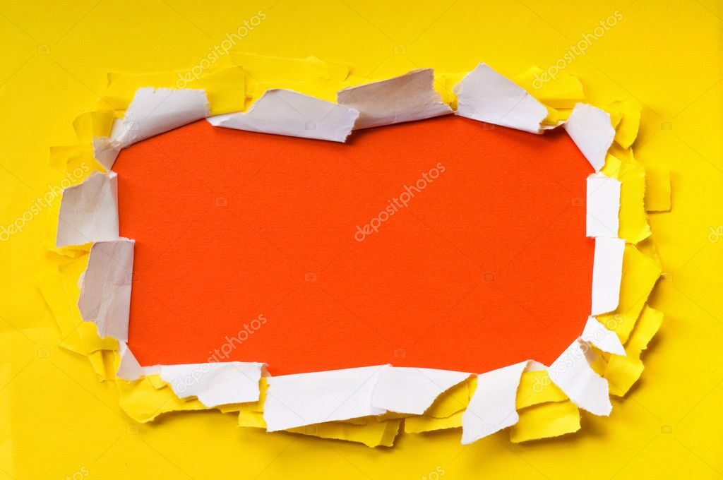 Space for your message on torn paper — Stock Photo #6885697