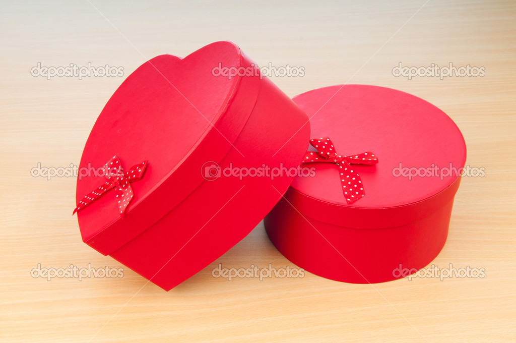 Christmas concept with giftbox on table — Stock Photo #6888708