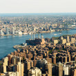 New York city panorama with tall skyscrapers - Stockfoto
