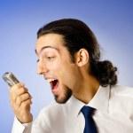 Businessman talking on the phone — Stock Photo #6892812