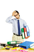 Businessman frustrated in the office — Stock Photo