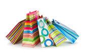 Concepto de compra con el bolso en blanco — Foto de Stock