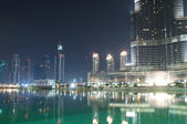 Dubai view at night time — Stock Photo