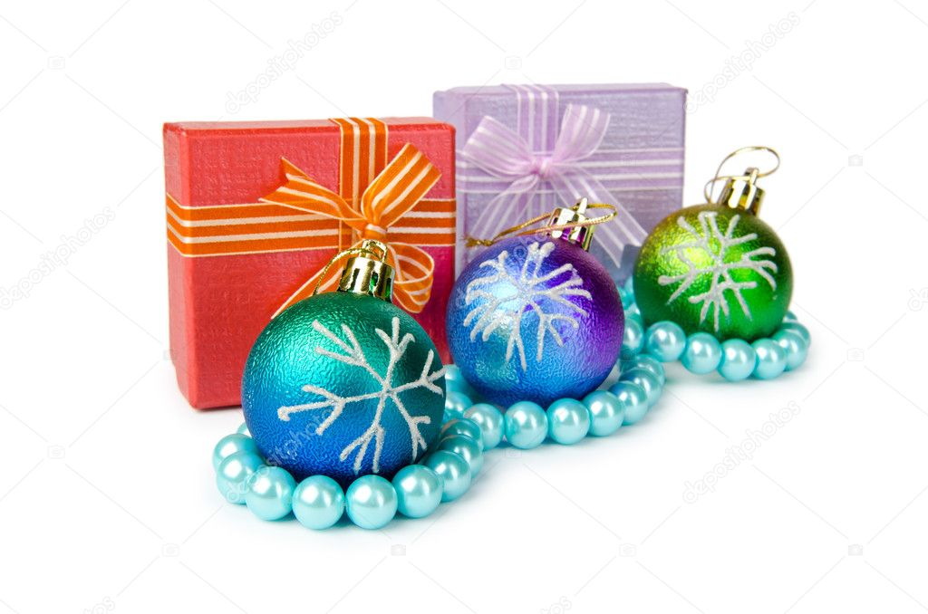 Christmas decoration on white background — Stock Photo #6890493