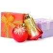Christmas decoration on white background — Stok fotoğraf