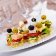 Stock Photo: Selection of various canape