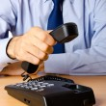 Businessman talking on the phone — Stock Photo #7107927