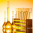 Chemical lab with glass tubing — Stock Photo #7109968