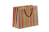 Shopping concept with bag on white — Stock Photo