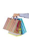 Christmas shopping concept with bags — Stock Photo