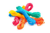 Colourful rope isolated on the white background — Stock Photo