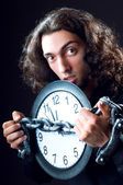 Time concept with man and clock — Stock Photo