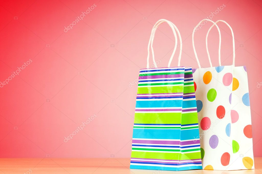 Shopping concept with bags — Stock Photo #7107342