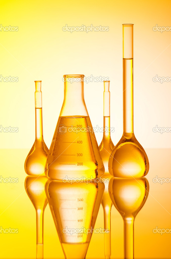 Chemical tubing at gradient background — Stock Photo #7107970