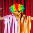 Theater concept with masked actor — Stock Photo #7125508