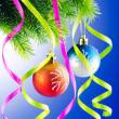 Baubles on christmas tree in celebration concept — Stock Photo #7128444