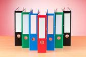 Office folder against gradient background — Stock Photo
