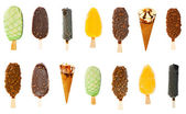 Collage of various ice creams — Stock Photo