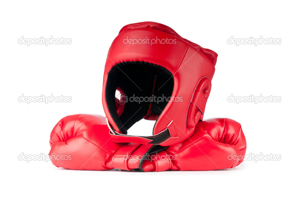 Sporting concept with box items — Stock Photo #7125416