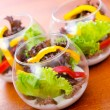 Stock Photo: Fresh healthy salad in bowls