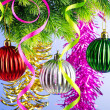 Baubles on christmas tree in celebration concept — Stock Photo #7131523