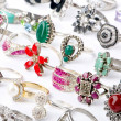 Selection of many precious rings — Stock Photo #7132406