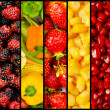 Collage of many fruits and vegetables — Stock Photo #7133097