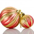 Stock Photo: Christmas baubles isolated on the white