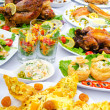Table served with tasty meals — Stock Photo #7134781