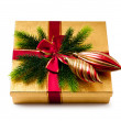 Christmas concept with decoration and giftbox - Foto de Stock