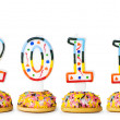 2011 made with cake candles — Stock Photo #7137213