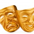 Masks with the theatre concept - Foto Stock