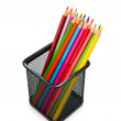 Colourful pencils isolated on the white — Stock fotografie
