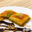 Traditional turkish sweet dessert — Stock Photo