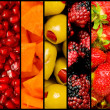 Collage of many fruits and vegetables — Stock Photo #7139653