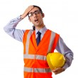 Young construction worker with hard hat — Stock Photo #7139873