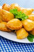 Plate full of tasty meat patties — Stock Photo