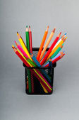 Colourful pencils on the background — Foto Stock