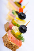 Selection of various canape — Foto Stock