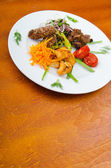 Plate with tasty lamp kebabs — ストック写真