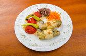Legumes grelhados serviram no prato — Foto Stock